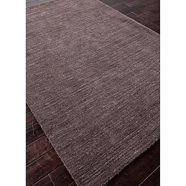 Winston Porter Waller Hand-Woven Wool Liquorice Area Rug; 12' x 9'