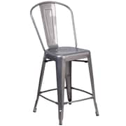 Williston Forge Roberto  Clear Coated 24.5'' Bar Stool