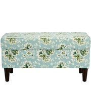 August Grove Barbour Cotton Upholstered Storage Bedroom Bench; Sea Green