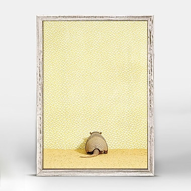 Ivy Bronx 'Armadillo On Yellow' Framed Print on Canvas