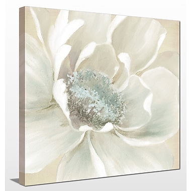 Alcott Hill 'Winter Blooms I' Painting Print on Wrapped Canvas; 18'' H x 18'' W
