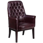 Alcott Hill Broadwell Traditional Tufted Arm Chair; Burgundy