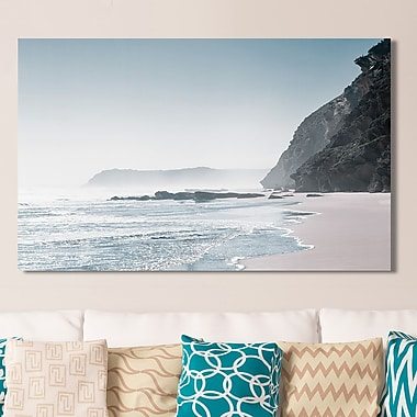 Ivy Bronx 'Blue Shore' Photographic Print on Wrapped Canvas; 24'' H x 40'' W