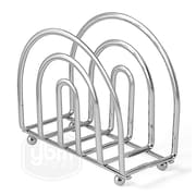 Rebrilliant Wire Kitchen Countertop Table Standing Napkin Holder; Chrome