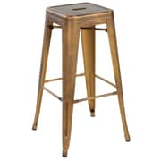 17 Stories Honora 26'' Dining Bar Stool; Antique Copper