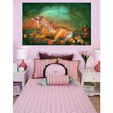 Zoomie Kids 'Unicorn Of The Roses' Painting Print Poster; 15'' H x 24'' W
