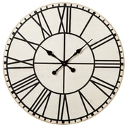 Gracie Oaks Oversized Elsworth Debossed Roman Numerals Round 28.13'' Wall Clock