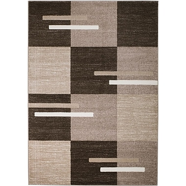 Orren Ellis Hodges Brown/Taupe Area Rug; 3'6'' x 5'