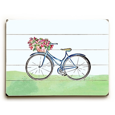 August Grove 'Spring Bicycle' Wall Art Plaque; 30'' H x 40'' W