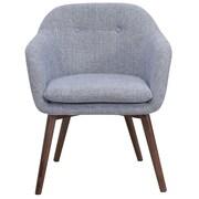 George Oliver Noah Wood Leg Arm Chair; Gray