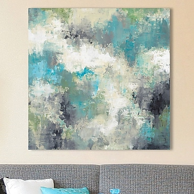 Ivy Bronx 'Cloud Layers' Graphic Art Print on Wrapped Canvas; 28'' H x 28'' W