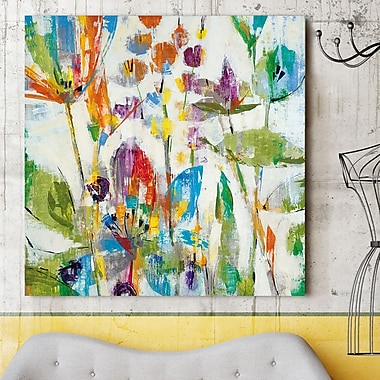 Latitude Run 'Lily Pond Park' Painting Print on Wrapped Canvas; 36'' H x 36'' W