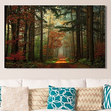 Loon Peak 'Path of the Unknown' Photographic Print on Wrapped Canvas; 18'' H x 30'' W