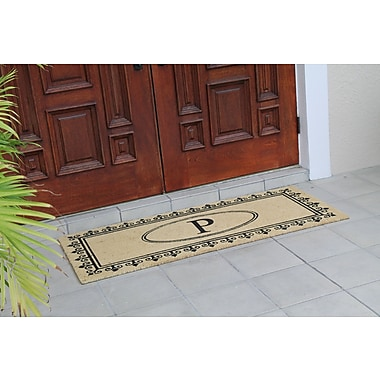 A1 Home Collections LLC First Impression Quinton Monogrammed Coir Doormat; P