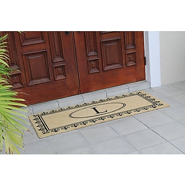 A1 Home Collections LLC First Impression Quinton Monogrammed Coir Doormat; L