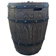 Deeco Wine Barrel Wood Propane Fire Column