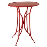 Gracie Oaks Elsworth Distressed Oval End Table