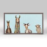 Latitude Run 'Donkey, Llama, Goat, Sheep' Framed Print on Canvas