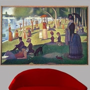 1884 'Sunday Afternoon on the Island of La Grande Jatte' by Georges Seurat Oil Painting Print Poster