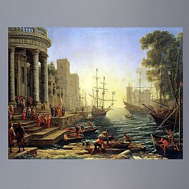 Astoria Grand 1641 'Seaport w/ the Embarkation of St. Ursula' Graphic Art Print Poster