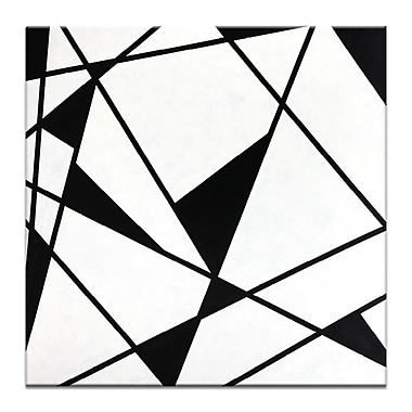 George Oliver 'Geometric 9' Graphic Art Print on Wrapped Canvas; 24'' H x 24'' W