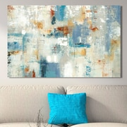 George Oliver 'Layers of Connection' Painting Print on Wrapped Canvas; 24'' H x 40'' W