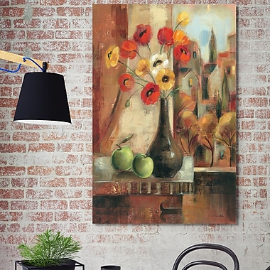 Fleur De Lis Living 'Old Town Memories II' Painting Print on Wrapped Canvas; 40'' H x 24'' W