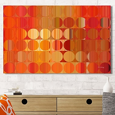 Mark Lawrence 'Circles and Squares LVIII. Orange Fire' Graphic Art Print on Wrapped Canvas