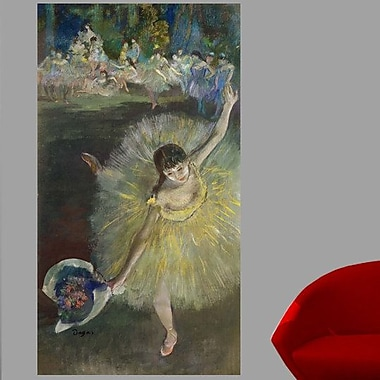 Astoria Grand 1877 'End of an Arabesque' by Edgar Degas Oil Painting Print Poster; 84'' H x 46'' W