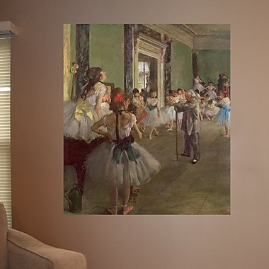 Astoria Grand 19th 'The Dancing Class' by Edgar Degas Oil Painting Print Poster; 31.5'' H x 36'' W