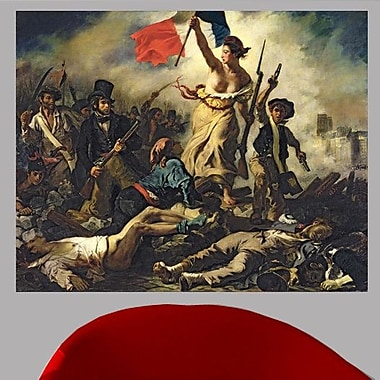 Astoria Grand 1830 'Liberty Leading the People' by Eugene Delacroix Oil Painting Print Poster