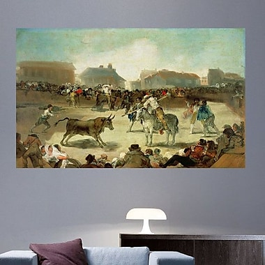 Astoria Grand Goya 'A Village Bullfight' Oil Painting Print Poster; 14.5'' H x 24'' W