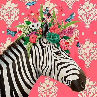 Bloomsbury Market 'Haute House Zebra' Print on Wrapped Canvas; 24'' H x 24'' W