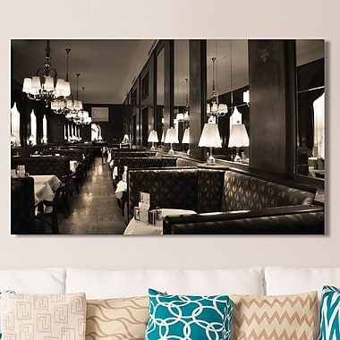 Latitude Run 'Cafe Vienna' Photographic Print on Wrapped Canvas; 28'' H x 48'' W