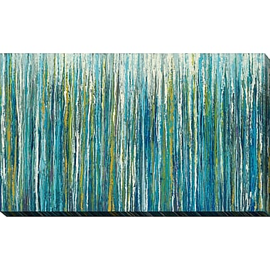 Latitude Run 'Greencicles' Graphic Art Print on Wrapped Canvas; 36'' H x 60'' W