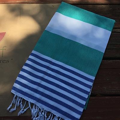 Highland Dunes Pestemal Turkish Beach Towel; Green