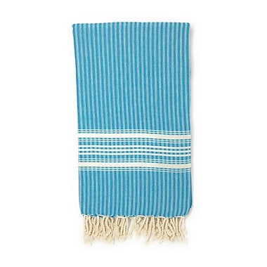 Highland Dunes Classic Pestemal Fouta Turkish Beach Towel; Blue