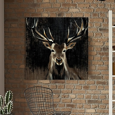 Loon Peak 'Young Buck' Painting Print on Wrapped Canvas; 24'' H x 24'' W
