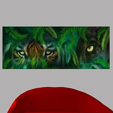 Latitude Run 'Jungle Eyes ? Tiger & Panther' Graphic Art Print Poster; 19'' H x 48'' W
