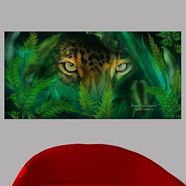 Latitude Run 'Jungle Eyes - Jaguar' Graphic Art Print Poster; 35.5'' H x 72'' W