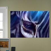 Latitude Run 'Zebra Blue' Graphic Print Poster; 16'' H x 24'' W