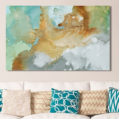 Mercer41 'Open Layers' Painting Print on Wrapped Canvas; 36'' H x 60'' W
