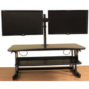 Latitude Run Cheverton Sit to Stand Monitor Stand w/ Double Articulated Dual Monitor Desk Mount