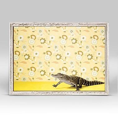 Latitude Run 'Alligator On Yellow' Framed Print on Canvas