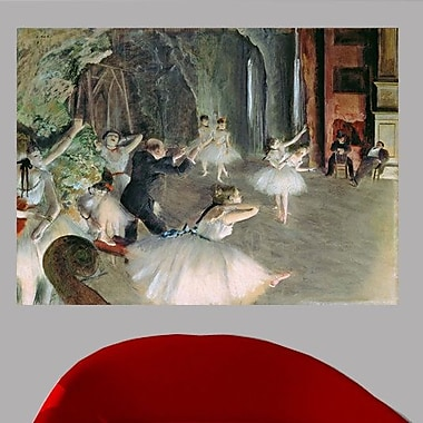 19th 'The Rehearsal of the Ballet on Stage' by Edgar Degas Watercolor Painting Print Poster