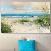Highland Dunes 'Catching the Wind' Painting Print on Wrapped Canvas; 18'' H x 30'' W