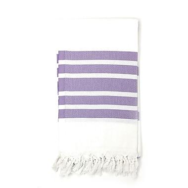 Highland Dunes Luxury Pestemal Fouta Turkish Beach Towel; Lilac