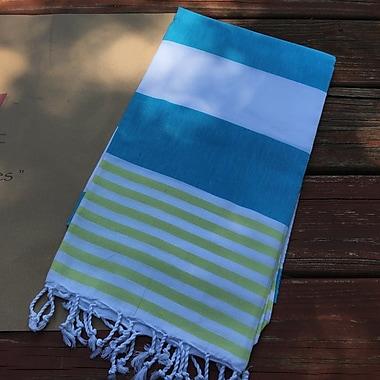 Highland Dunes Pestemal Turkish Beach Towel; Turquoise