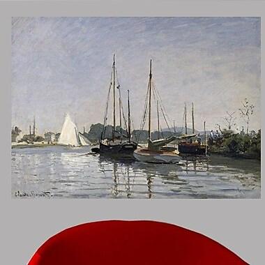 Highland Dunes Claude Monet 'Pleasure Boats, Argenteuil' Painting Print Poster; 43.5'' H x 60'' W