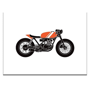 Ivy Bronx 'Cafe Racer 1' Graphic Art Print on Wrapped Canvas; 16'' H x 20'' W
